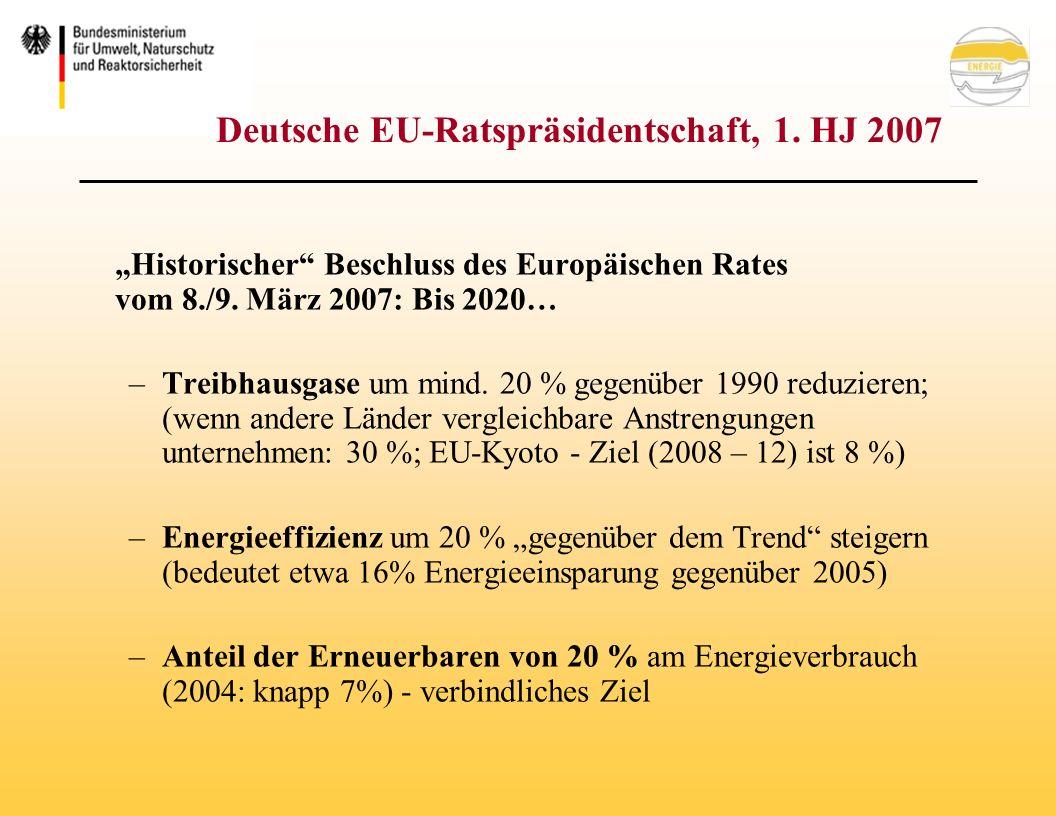 Deutsche EU-Ratspräsidentschaft, 1. HJ 2007 Historischer Beschluss des Europäischen Rates vom 8./9.