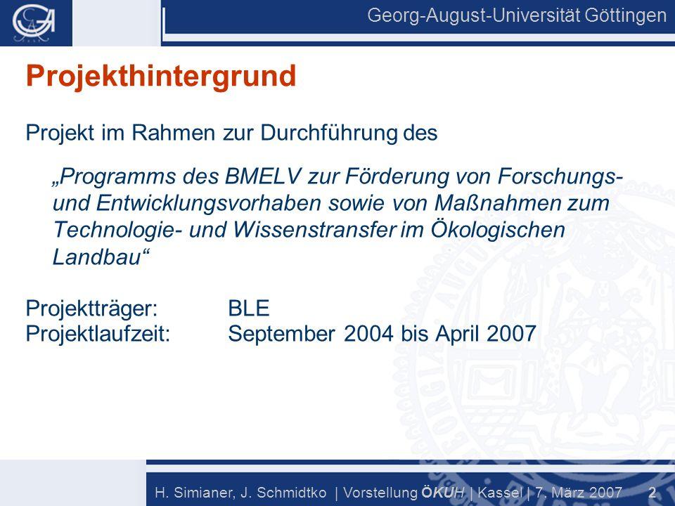 2 H. Simianer, J. Schmidtko | Vorstellung Ö KU H | Kassel | 7.