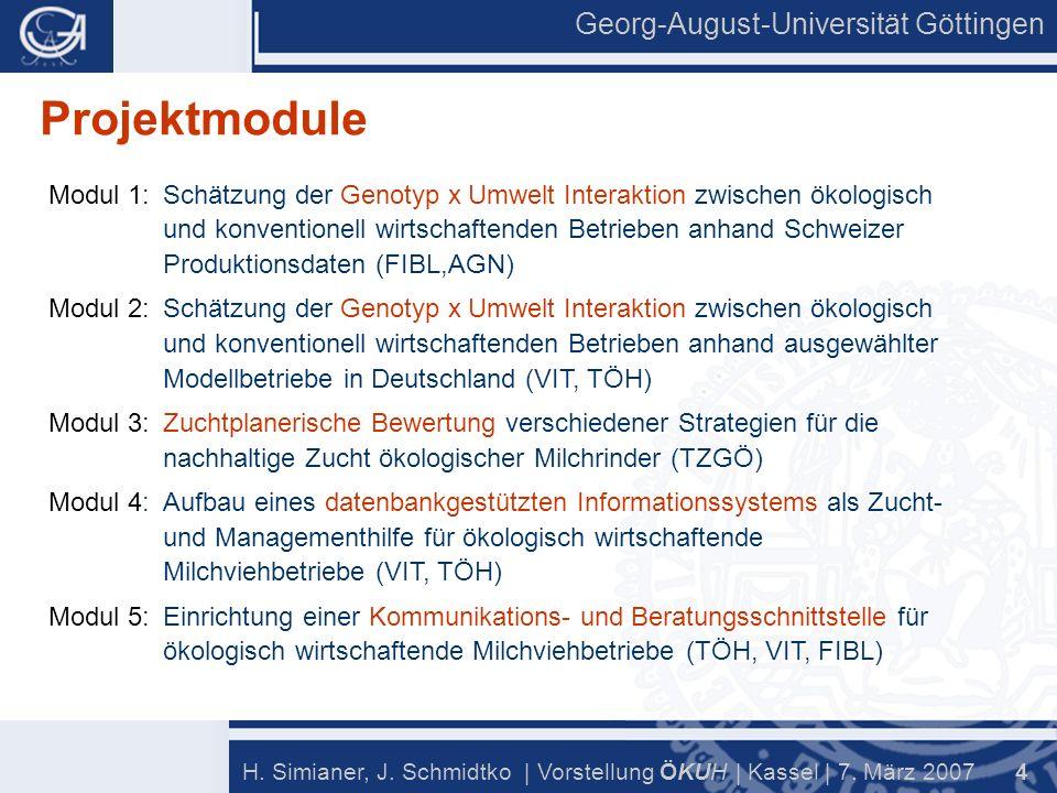 Georg-August-Universität Göttingen 4 H. Simianer, J.