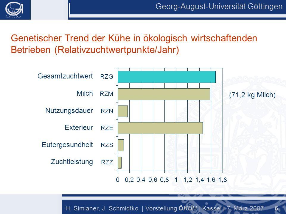Georg-August-Universität Göttingen 6 H. Simianer, J.