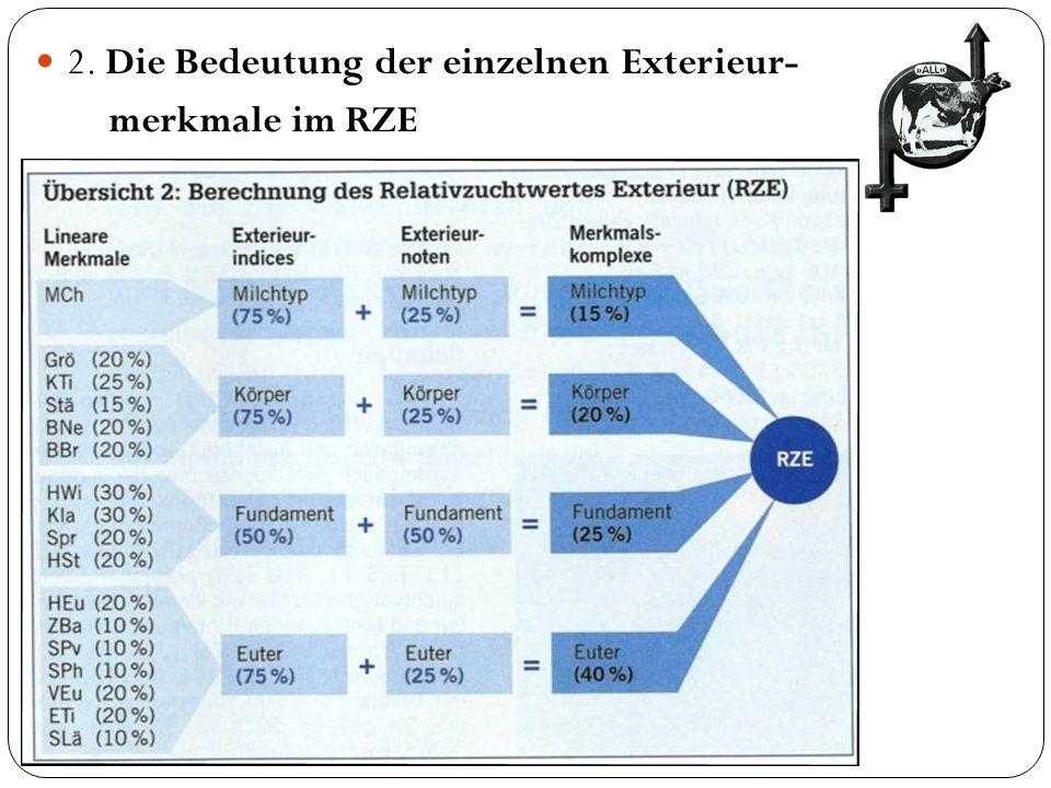 2. Die Bedeutung der einzelnen Exterieur- merkmale im RZE