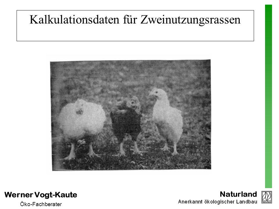 Werner Vogt-Kaute Öko-Fachberater Kalkulationsdaten für Zweinutzungsrassen