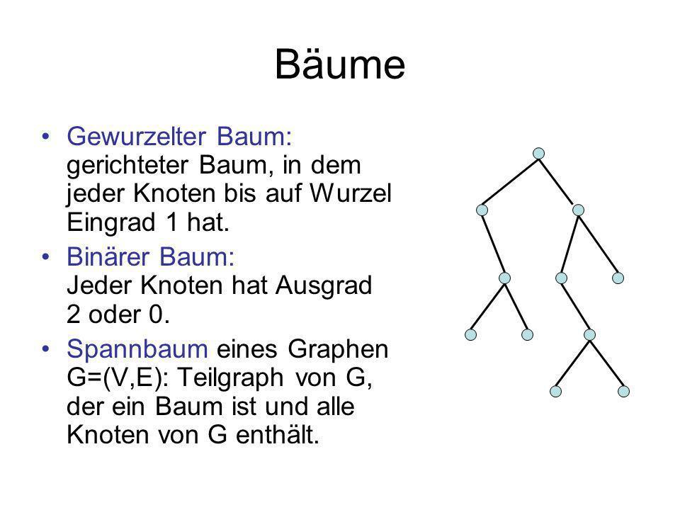Minimaler Spannbaum Gegeben: Graph G=(V,E) mit Kantenkosten c:E .