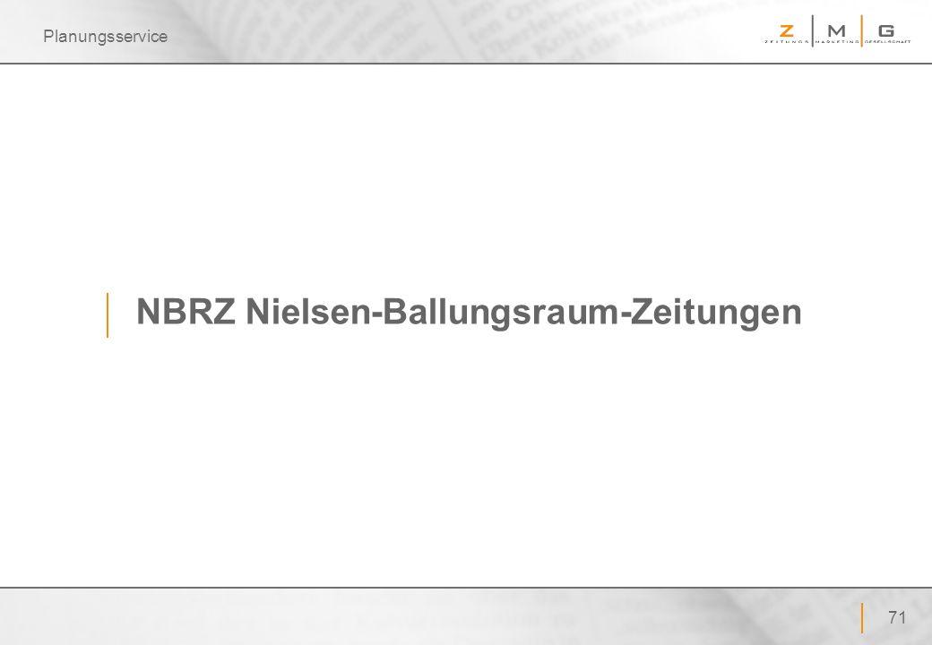 71 Planungsservice NBRZ Nielsen-Ballungsraum-Zeitungen