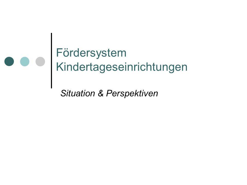 Fördersystem Kindertageseinrichtungen Situation & Perspektiven