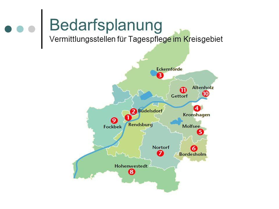 Bedarfsplanung Vermittlungsstellen für Tagespflege im Kreisgebiet