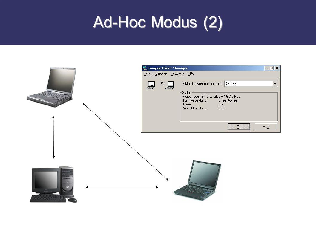 Ad-Hoc Modus (2)