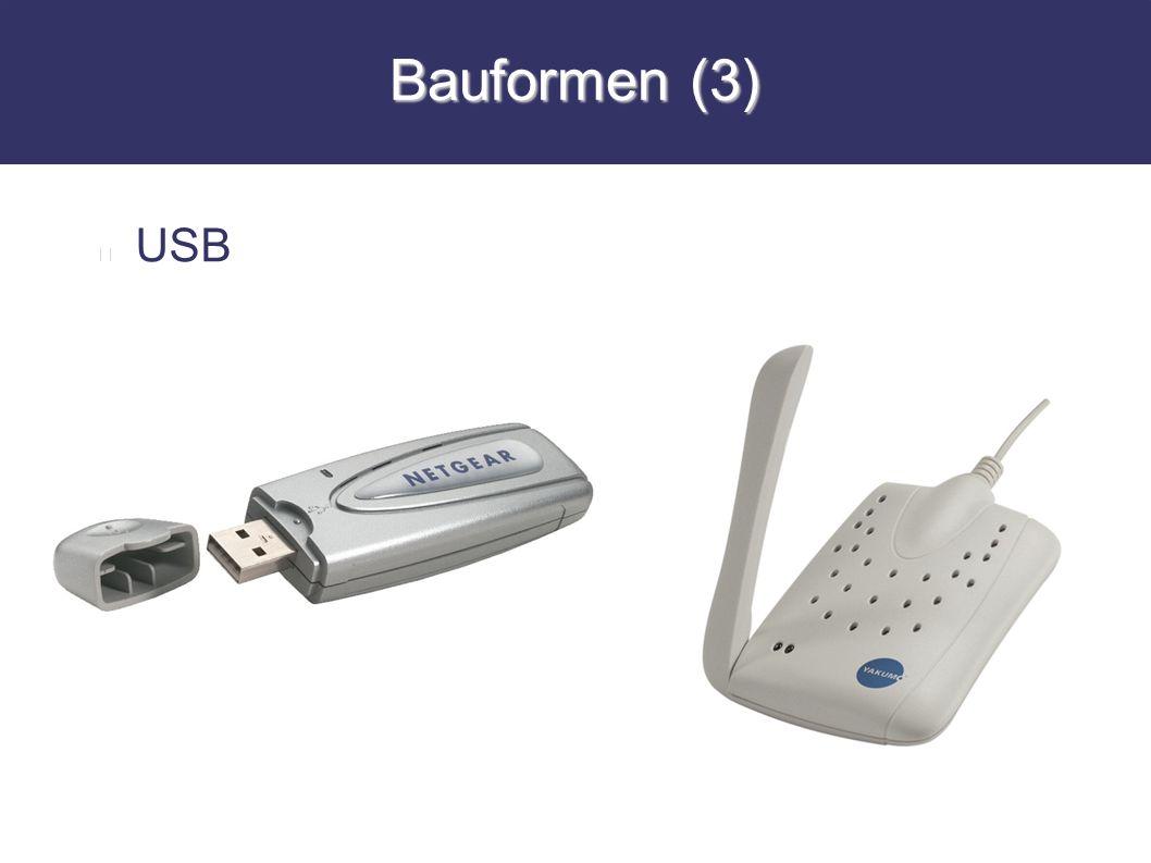 Bauformen (3) USB