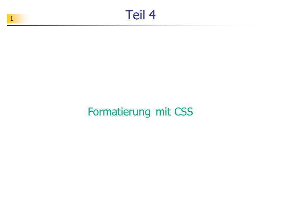 1 Teil 4 Formatierung mit CSS