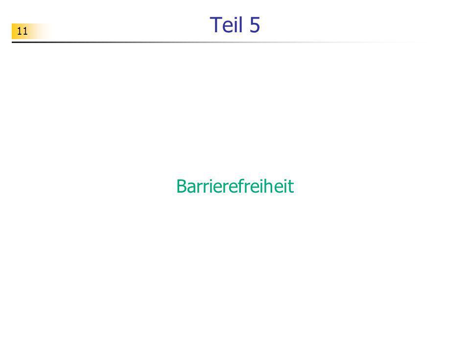 11 Teil 5 Barrierefreiheit