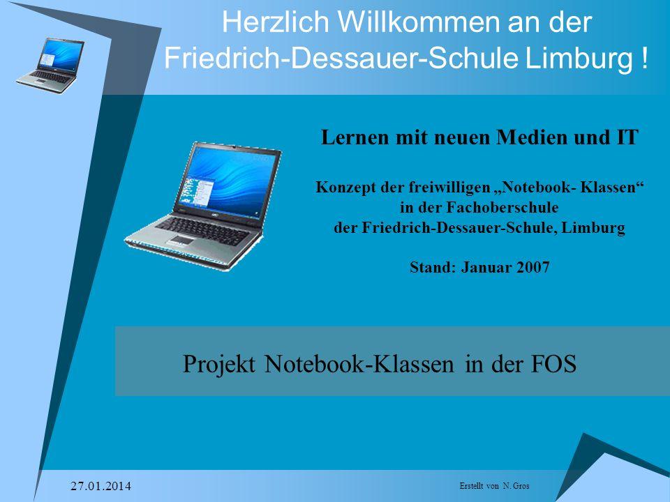 Erstellt von N.Gros 27.01.2014 Herzlich Willkommen an der Friedrich-Dessauer-Schule Limburg .