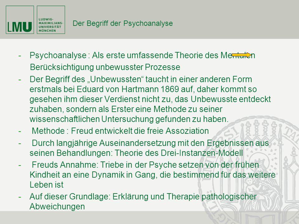 Der Begriff der Psychoanalyse -Psychoanalyse : Als erste umfassende Theorie des Mentalen Berücksichtigung unbewusster Prozesse -Der Begriff des Unbewu