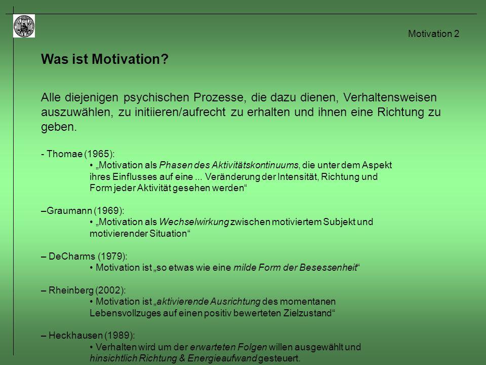 Motivation 3 Was ist Motivation.