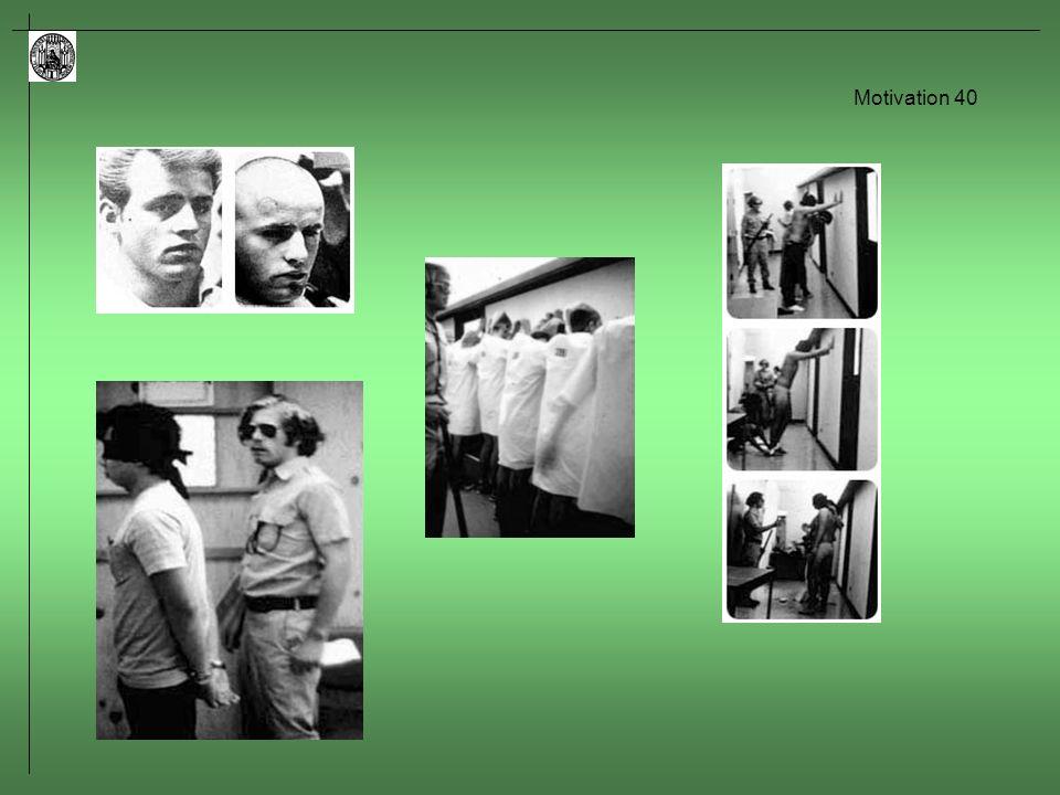 Motivation 41 Ausgewählte Themen in Zusammenhang mit der Freudschen Theorie Aggression und Gewalt: – wird Aggressionsbereitschaft durch Beobachten von Gewalt verringert.