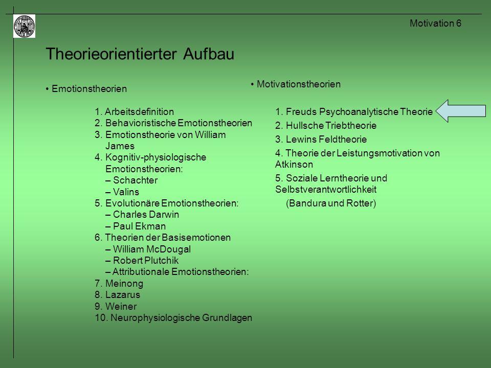Motivation 7 Sigmund Freud (1856-1939) Zeitlebens in Wien ansässig (bis 1938 => Emigration nach London).