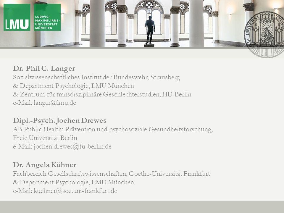 New Data on HIV MSM Prevention Dr. Phil C. Langer Sozialwissenschaftliches Institut der Bundeswehr, Strausberg & Department Psychologie, LMU München &