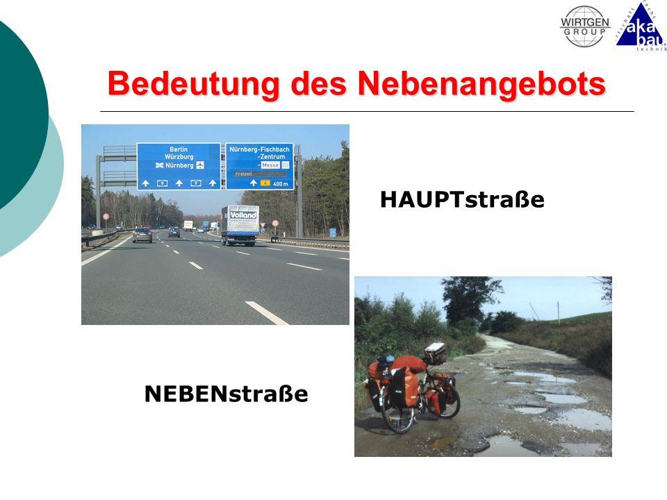 Bedeutung des Nebenangebots HAUPTstraße NEBENstraße