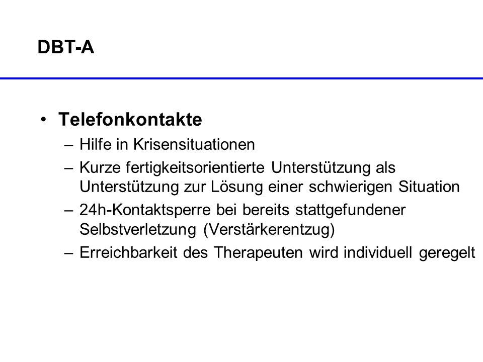 DBT-A Telefonkontakte –Hilfe in Krisensituationen –Kurze fertigkeitsorientierte Unterstützung als Unterstützung zur Lösung einer schwierigen Situation