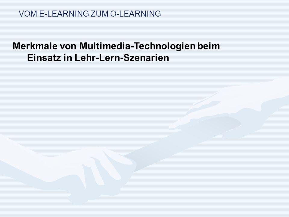 VOM E-LEARNING ZUM O-LEARNING Modellhafte Lösung: Aufbau einer virtuellen Organisation 1.Zusammenfassung existierender Teilorganisationen durch eine virtuelle Struktur, 2.Etablierung der virtuellen Vernetzung durch Managementstruktur und neu geschaffenes Zentrum, 3.dezentrale internetbasierte Unterstützung der eigentlichen Geschäftsprozesse.