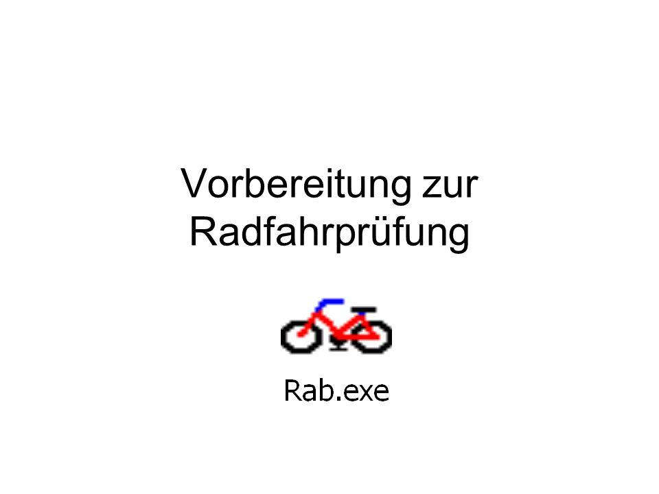 Vorbereitung zur Radfahrprüfung