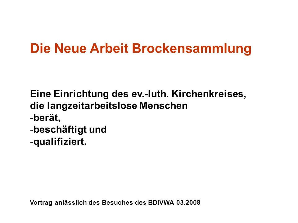 Die Neue Arbeit Brockensammlung Eine Einrichtung des ev.-luth.
