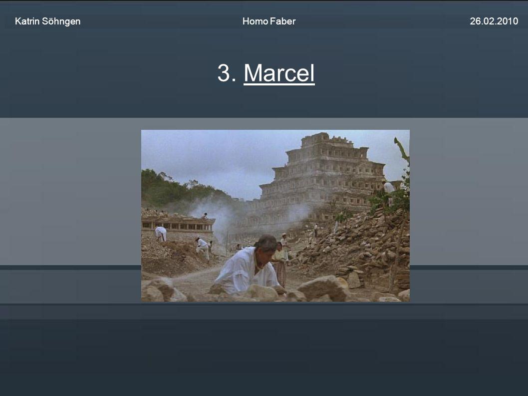 Amerikaner (S.41/Z.22f) Boston Musiker Französischer Herkunft Schwatzt zu viel (S.39/Z.29) Liebhaber von Pyramiden und indianischen Ruinen (S.37/Z.35f) Geht mit Herbert und Faber ins Kino (S.41/Z.13) Macht Kopien von steinernen Reliefs (S.42/Z.6f) Glaubt das sie sofort tot sind wenn man sie fotografiert Fährt mit Herbert und Faber zu Joachim (S.44/Z.32) Genaue gegenteil von Faber 3.