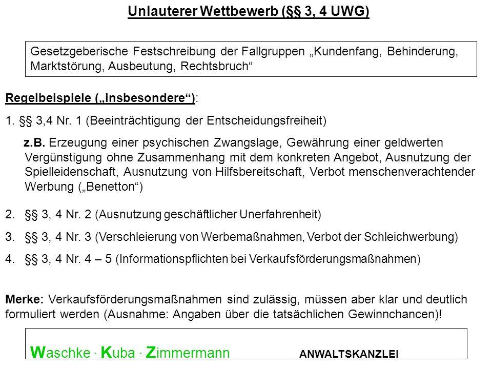 W aschke · K uba · Z immermann ANWALTSKANZLEI Überblick : Straftatbestände 5.