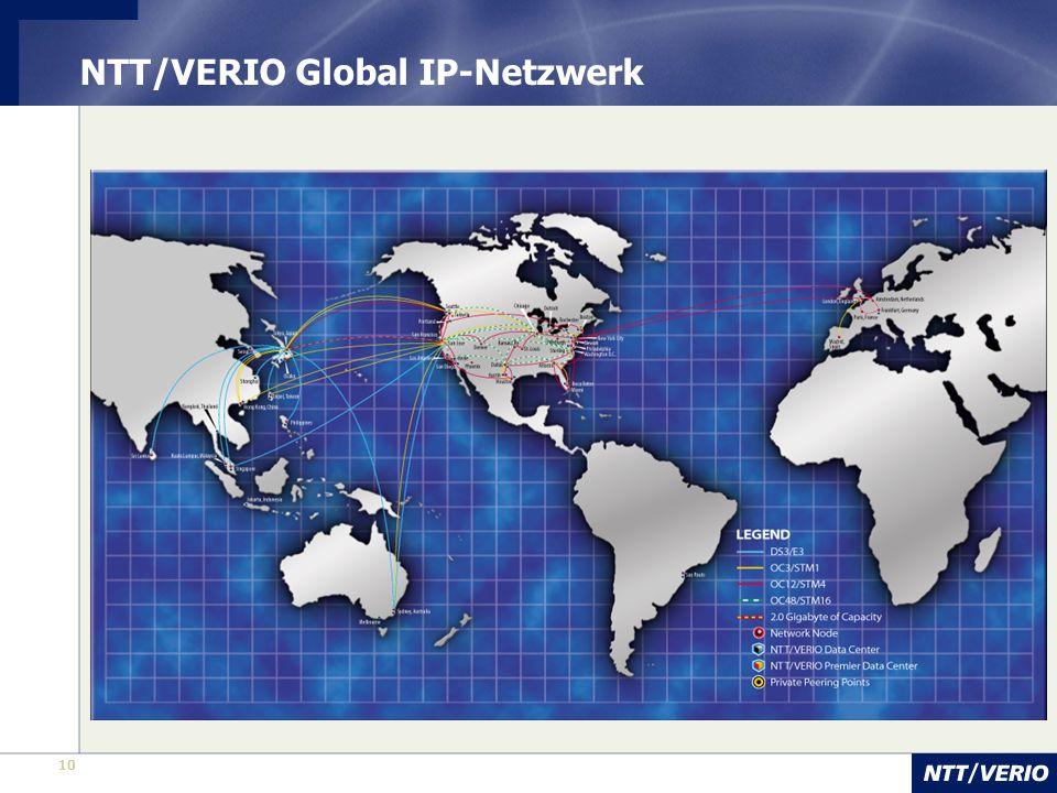 10 NTT/VERIO Global IP-Netzwerk