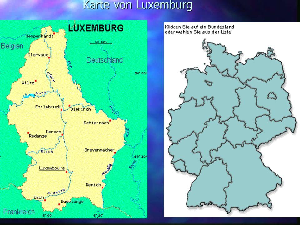 Karte von Luxemburg