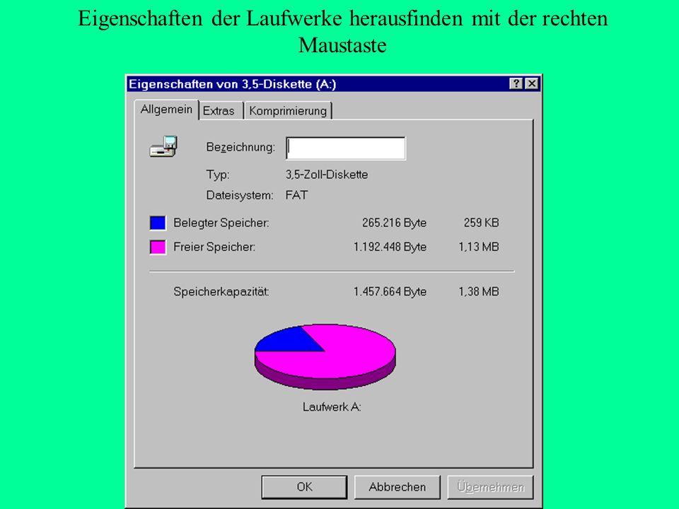 Kopieren von Diskette auf Diskette Im Explorer mit der rechten Maustaste das Laufwerk a: anklicken.