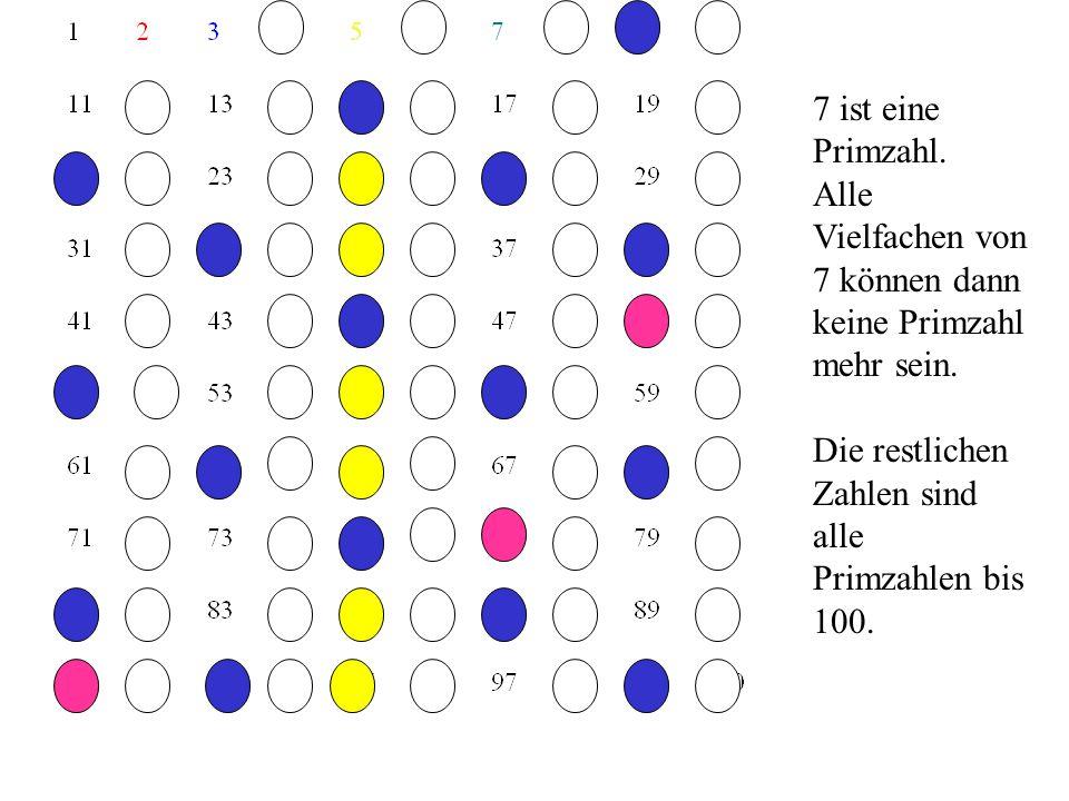 5 ist eine Primzahl. Alle Vielfachen von 5 können dann keine Primzahl mehr sein.