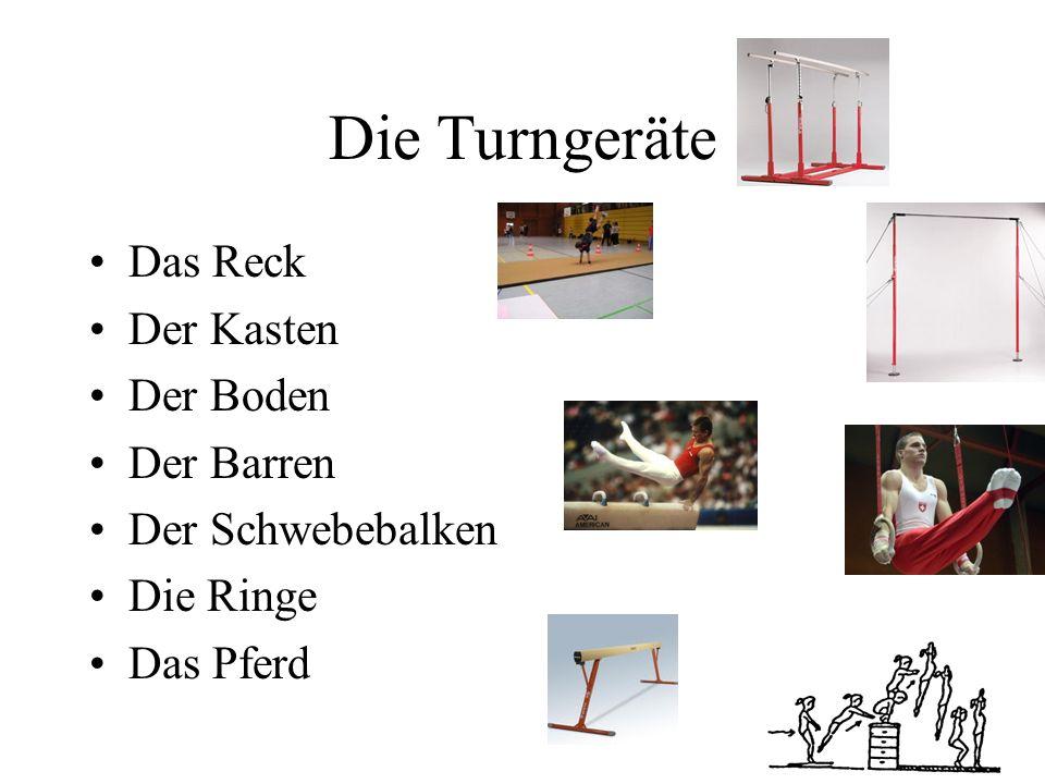 Der Ball Der Handball Der Fußball Der Federball Der Basketball Der Tischtennisball Der Tennisball Der Golfball