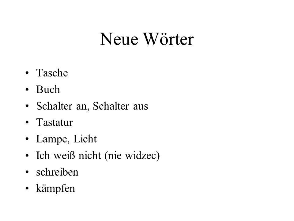 Neue Wörter Tasche Buch Schalter an, Schalter aus Tastatur Lampe, Licht Ich weiß nicht (nie widzec) schreiben kämpfen