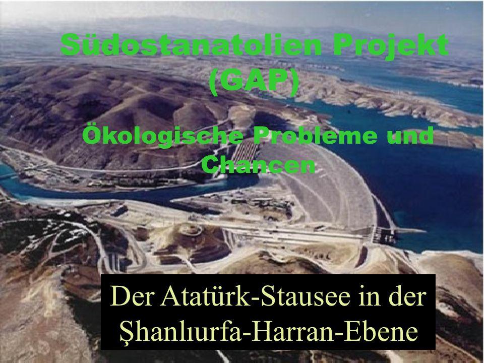 Südostanatolien Projekt (GAP) Ökologische Probleme und Chancen Der Atatürk-Stausee in der Şhanlıurfa-Harran-Ebene