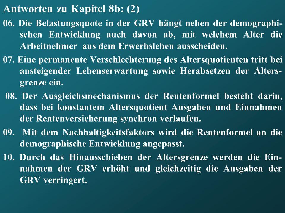Antworten zu Kapitel 8b: (2) 06.