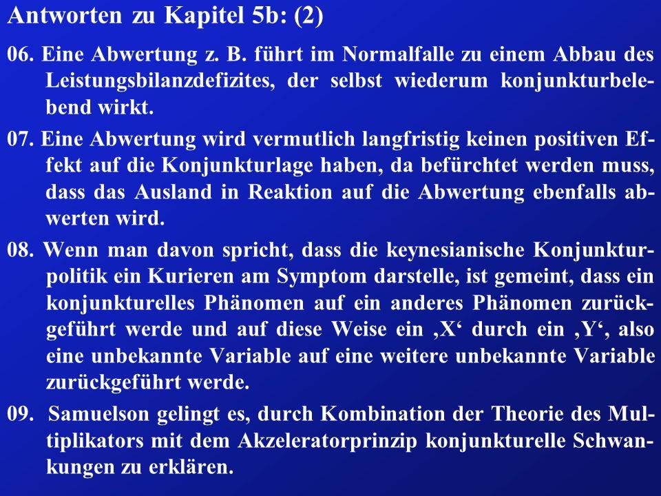 Antworten zu Kapitel 5b: (2) 06.Eine Abwertung z.