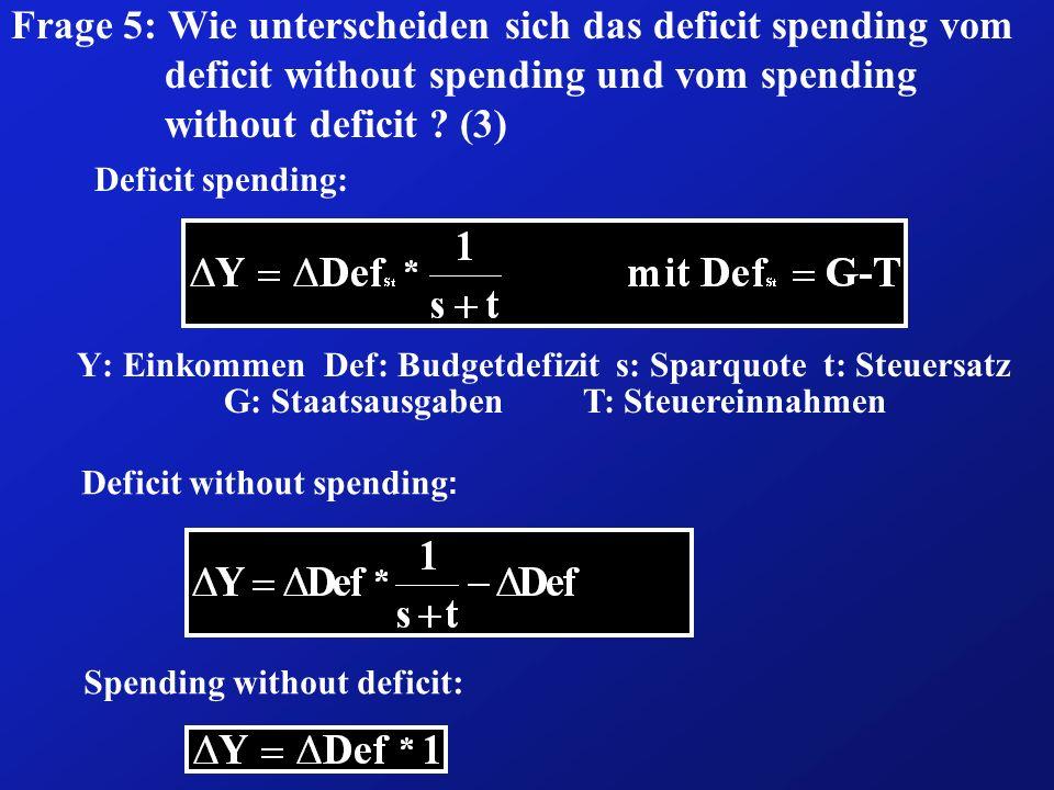 SCHULDEN ALS GENERATIONENPROBLEM (1) Gegenwart: ( G - T) beabsichtigte Wirkung: Y mögliche Wirkung: i I Y In der Gegenwart kann die beabsichtigte Steigerung des Inlands- produktes zumindest zum Teil dadurch vereitelt werden, dass die Kreditaufnahme des Staates zur Finanzierung des Defizites zur Zinssteigerung und diese zu einem Rückgang in der privaten Investitionsnachfrage führt.