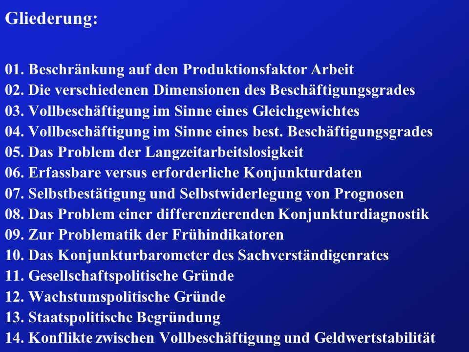 Frage 05: Welche Bedeutung kommt der Langzeitarbeits- losigkeit im Rahmen der Beschäftigungspolitik zu.
