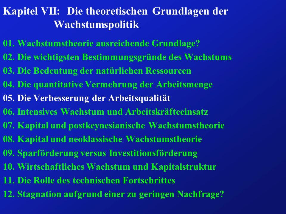 Kapitel VII: Die theoretischen Grundlagen der Wachstumspolitik 01.