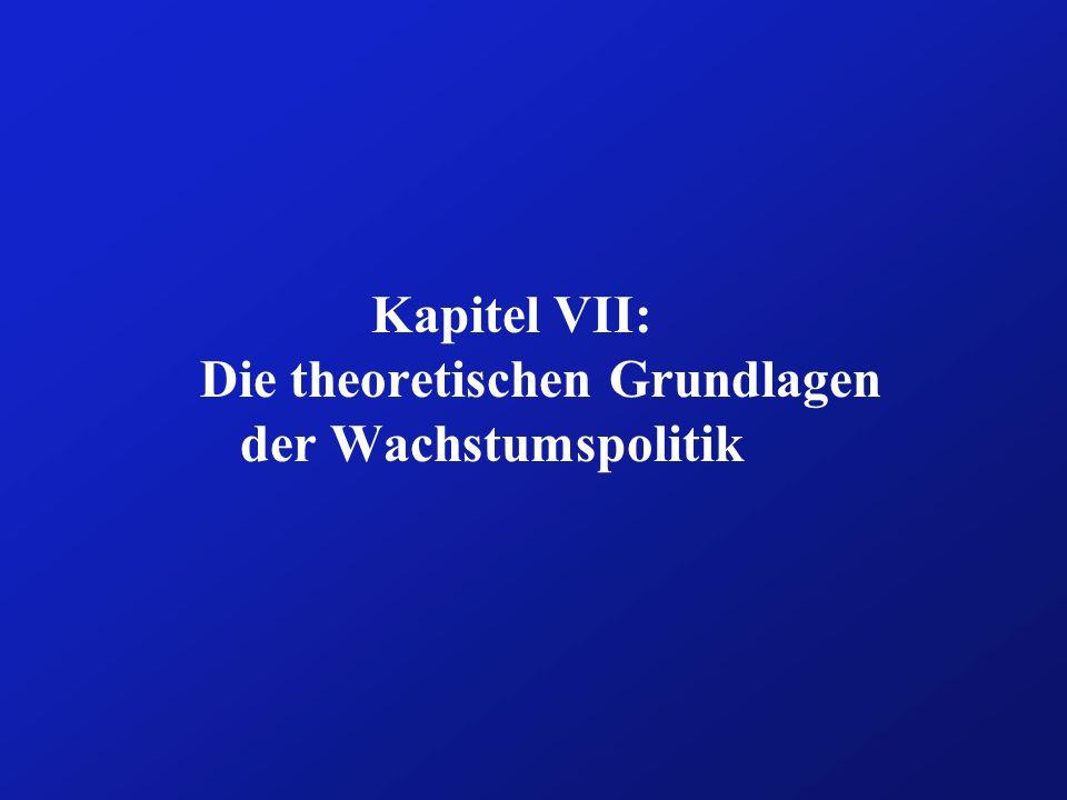 Kapitel VII: Die theoretischen Grundlagen der Wachstumspolitik