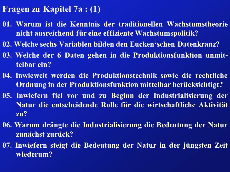 Fragen zu Kapitel 7a : (1) 01.