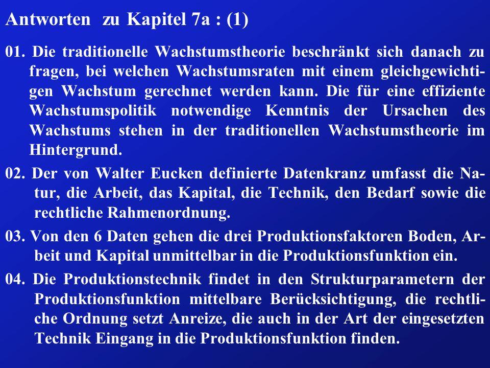 Antworten zu Kapitel 7a : (1) 01.