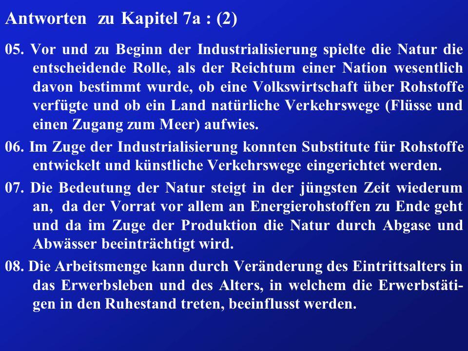 Antworten zu Kapitel 7a : (2) 05.