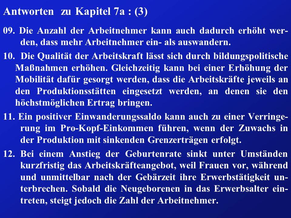 Antworten zu Kapitel 7a : (3) 09.