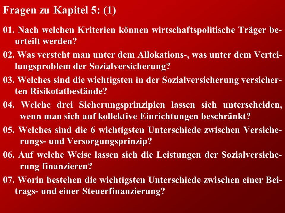 Fragen zu Kapitel 5: (1) 01.