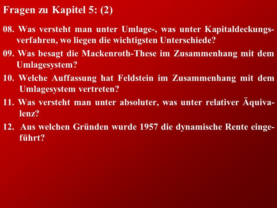 Fragen zu Kapitel 5: (2) 08.