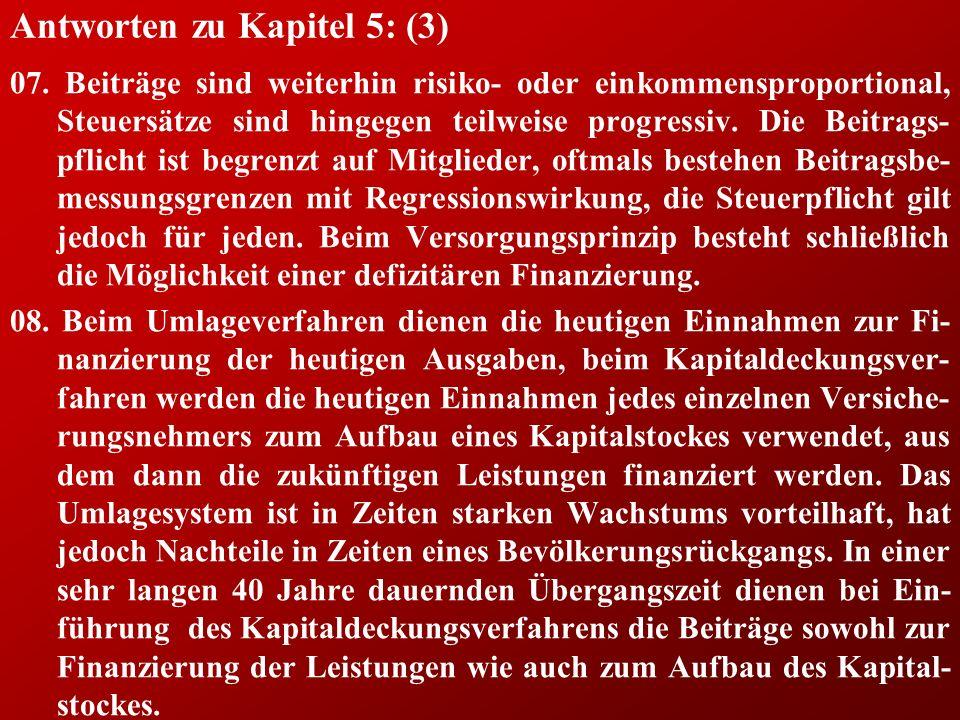 Antworten zu Kapitel 5: (3) 07.