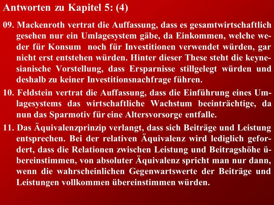 Antworten zu Kapitel 5: (4) 09.