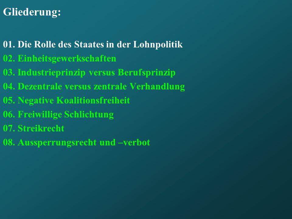 Frage 4: Wie wirkt sich der Zentralisierungsgrad der Tarifverhandlungen aus .