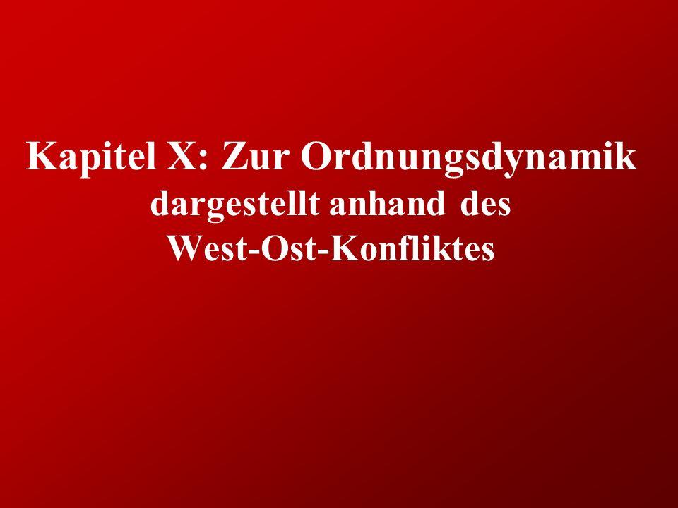 Kapitel X: Zur Ordnungsdynamik dargestellt anhand des West-Ost-Konfliktes